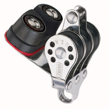Harken 22mm Triple Pulley Block with Becket & Cam