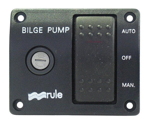 Rule 3-Way Bilge Pump Rocker Switch 12v