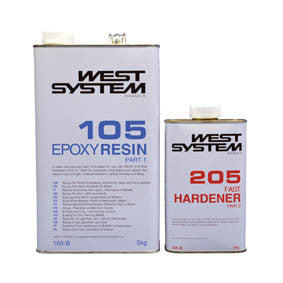 West System Epoxy Packs with 105 Epoxy Resin & 205 Fast Hardener - whitstable-marine