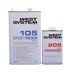 West System Epoxy Packs with 105 Epoxy Resin & 205 Fast Hardener