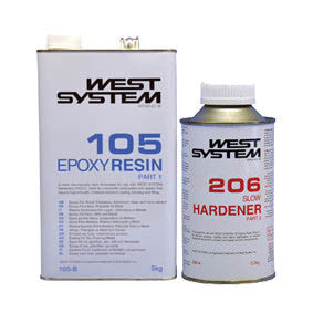 West System Epoxy Packs with 105 Epoxy Resin & 206 Slow Hardener - whitstable-marine