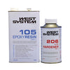 Image of West System Epoxy Packs with 105 Epoxy Resin & 206 Slow Hardener - whitstable-marine