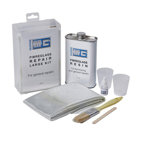 Polyester resin boat repair kit