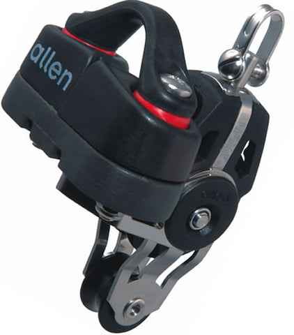 Allen 40mm Dynamic Block: Swivel with 20mm Fiddle Block A.676 & Cam Cleat - whitstable-marine