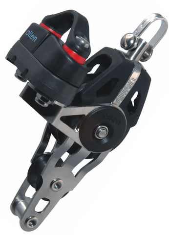 Allen 40mm Dynamic Block: Swivel with 20mm Fiddle Block, Becket & A.677 Cam Cleat - whitstable-marine