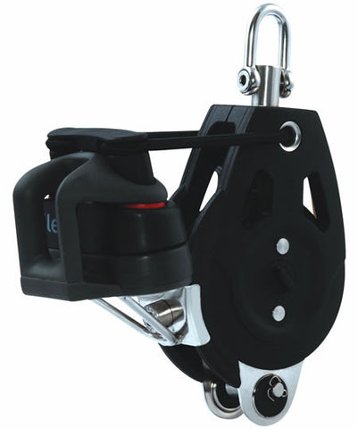 Allen 50mm Dynamic Block: Single 50mm Pro-ratchet with becket & cleat - whitstable-marine