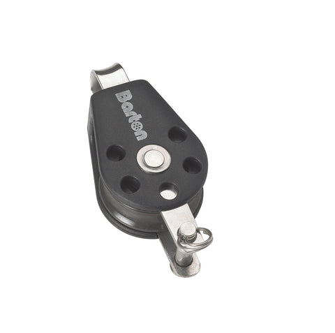 Barton Single Pulley Block with Fixed Eye & Becket, Series 2 - whitstable-marine