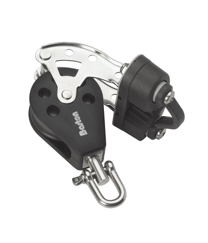 Barton Single Pulley Block with Swivel, Becket & Cam Cleat, Series 2 - whitstable-marine
