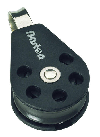 Barton Single Pulley Block with Fixed Eye, Size 3 - whitstable-marine