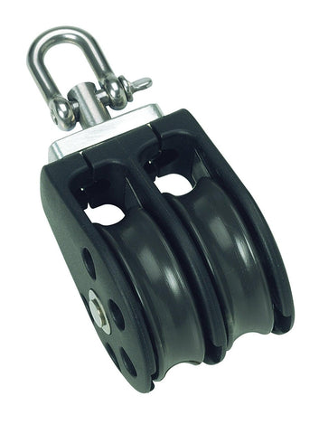 Barton Double Pulley Block with Swivel, Size 3 - whitstable-marine