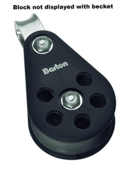 Barton Single Pulley Block with Fixed Eye & Becket, Size 6