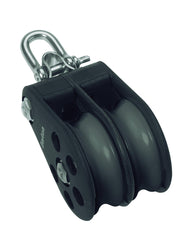Barton Double Pulley Block with Reverse Shackle, Size 6