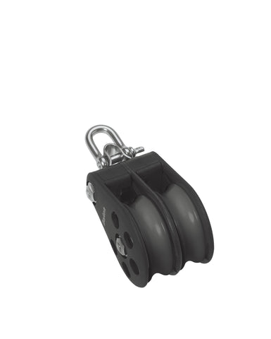Barton Double Pulley Block with Fixed Eye, Size 5 - whitstable-marine