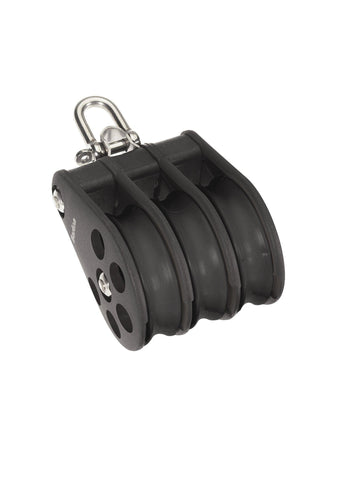 Barton Triple Pulley Block with Reverse Shackle, Size 5 - whitstable-marine