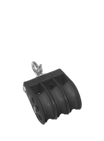 Barton Triple Pulley Block with Swivel, Size 5 - whitstable-marine