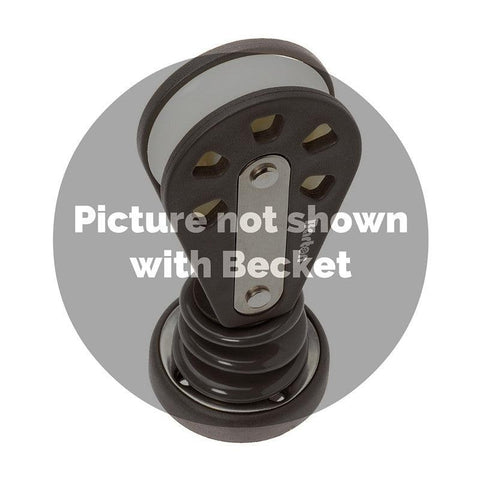 Barton Stand Up Pulley Block with Becket, Size 3 - whitstable-marine