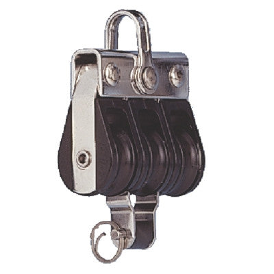 RWO 19mm Block: Triple & Becket - whitstable-marine