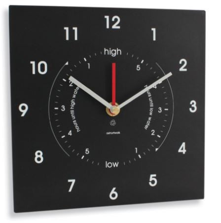 Eco Recycled Time & Tide Clock - whitstable-marine