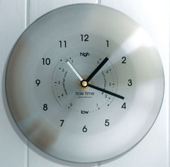 Stainless steel time and tide clock