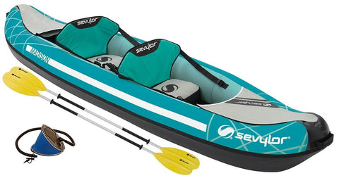 Sevylor Madison 2 Person Inflatable Kayak Complete Kit with paddles & pump