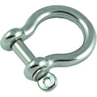 Stainless Steel Bow Shackles - whitstable-marine