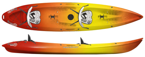 Wavesport Scooter Gemini Sit-On Top Kayak with free paddles - whitstable-marine