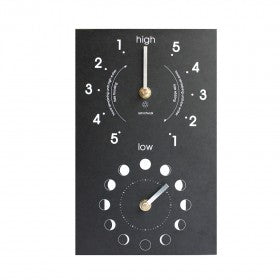 Eco Recycled Moon & Tide Clock - whitstable-marine