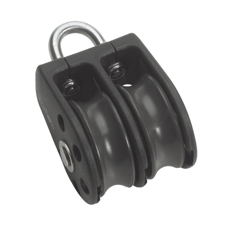 Barton Double Pulley Block with Fixed Eye, Series 2 - whitstable-marine