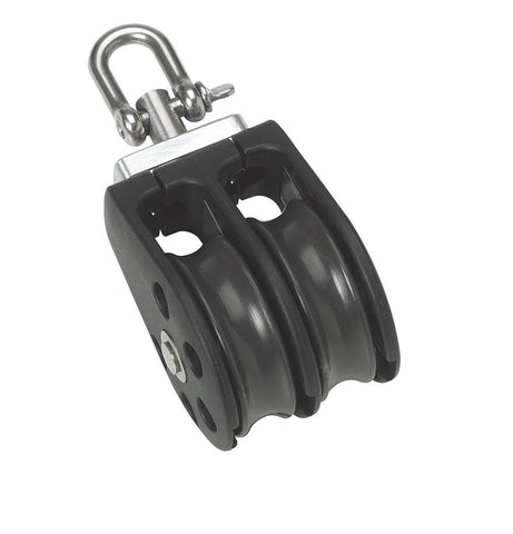 Barton Double Pulley Block with Swivel, Series 1 - whitstable-marine