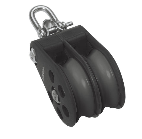 Barton Double Pulley Block with Reverse Shackle, Size 7 - whitstable-marine