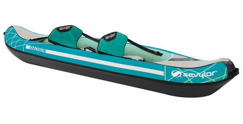 Sevylor Madison 2 Person Inflatable Kayak Complete Kit with paddles & pump - whitstable-marine