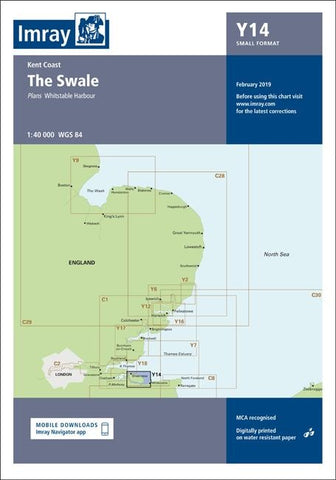 Imray Chart Y14 The Swale - whitstable-marine