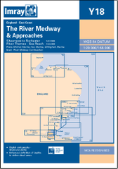 Imray Chart Y18 River Medway -Thames Sea Reach - whitstable-marine