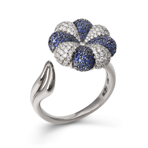 Blue Clover Diamond Ring