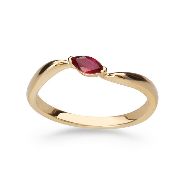 Crimson Marquise Ring