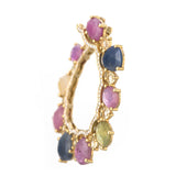 Multicolor Sapphire Glamour Hoop Earrings