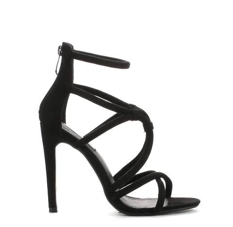"""BLACK WIDOW"" strappy heel"
