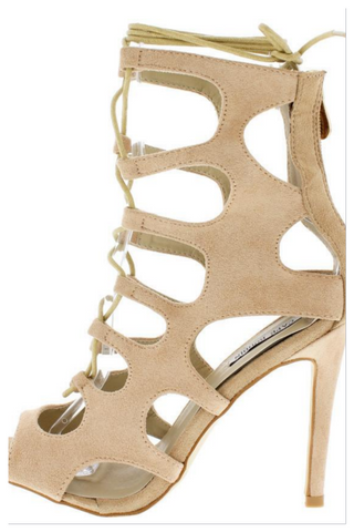 """NUNU"" nude cut out heel"