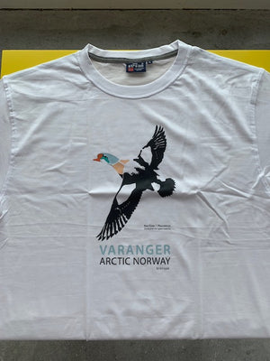 King eider white Varanger arctic Norway T-shirt