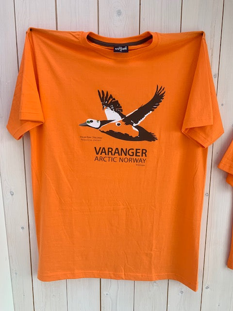 Stellers eider orange Varanger arctic Norway T-shirt