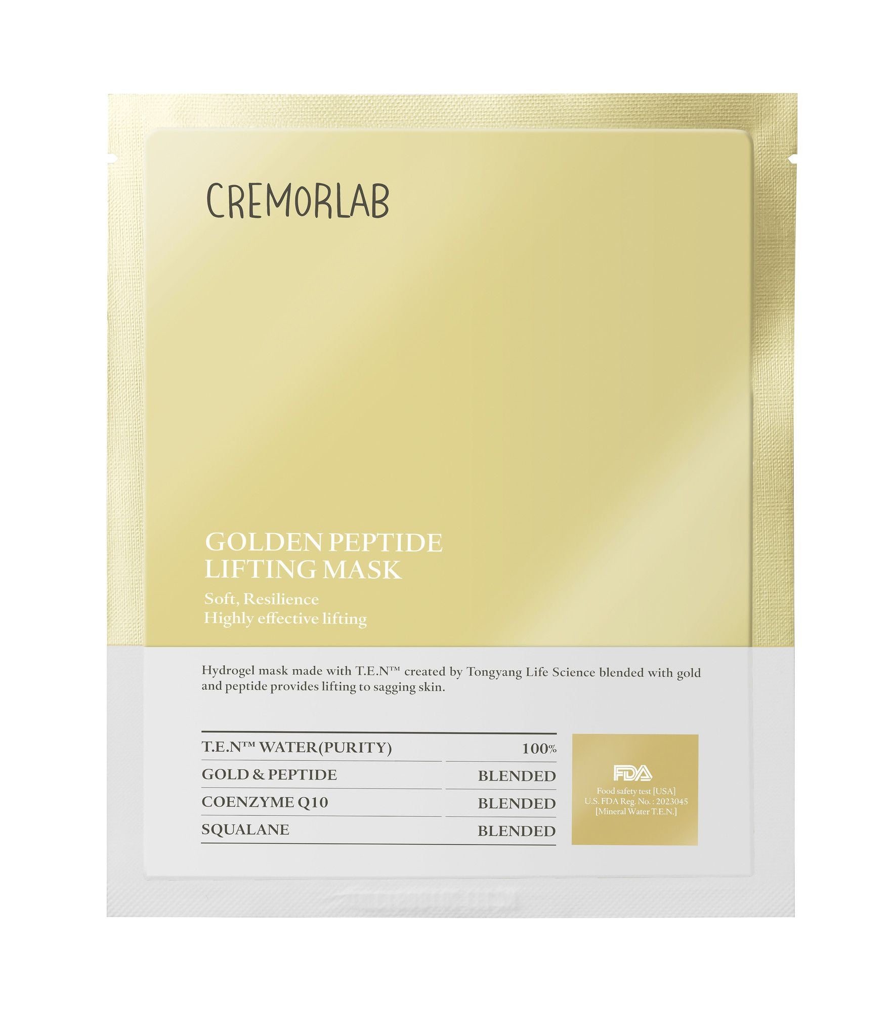 Golden Peptide Plumping Mask