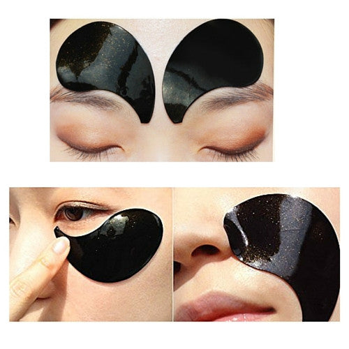 Real Gold Black Pearl Eye Patch
