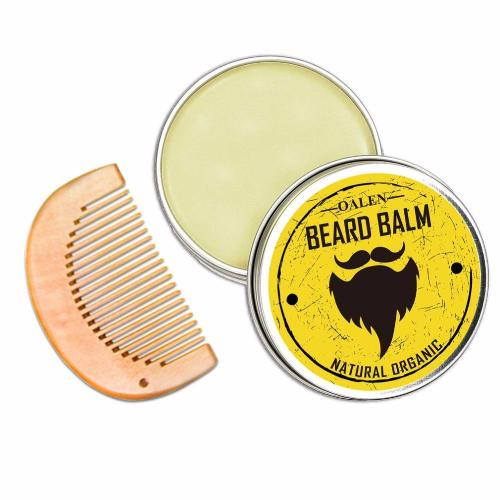 Grooming Kit- Beard Balm, Oil, Brush, Comb (4 pieces)