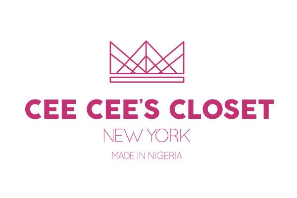 Crowned pink logo of Cee Cee's Closet NYC, Premier African Print Brand