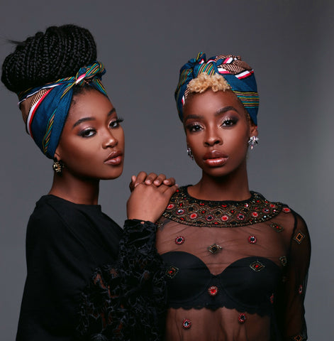 Two beautiful women in headwraps