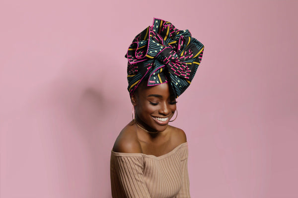 African headwrap in a bow