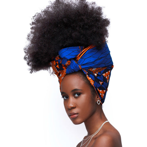 Blue Nubia Headwrap