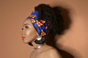 Blue Nubia Shortie - Headwraps
