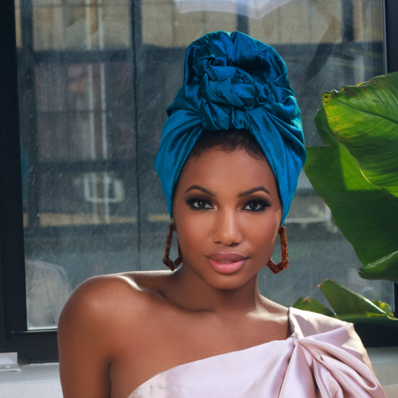 Claudine Raw Silk Headwrap