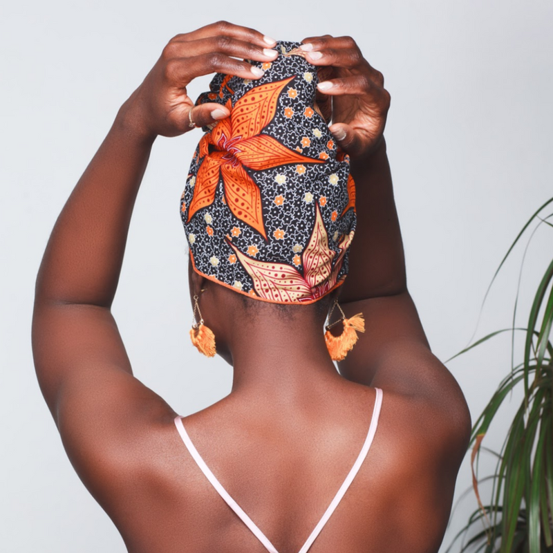 Clementine Silk Lined Headwrap - Head Wraps
